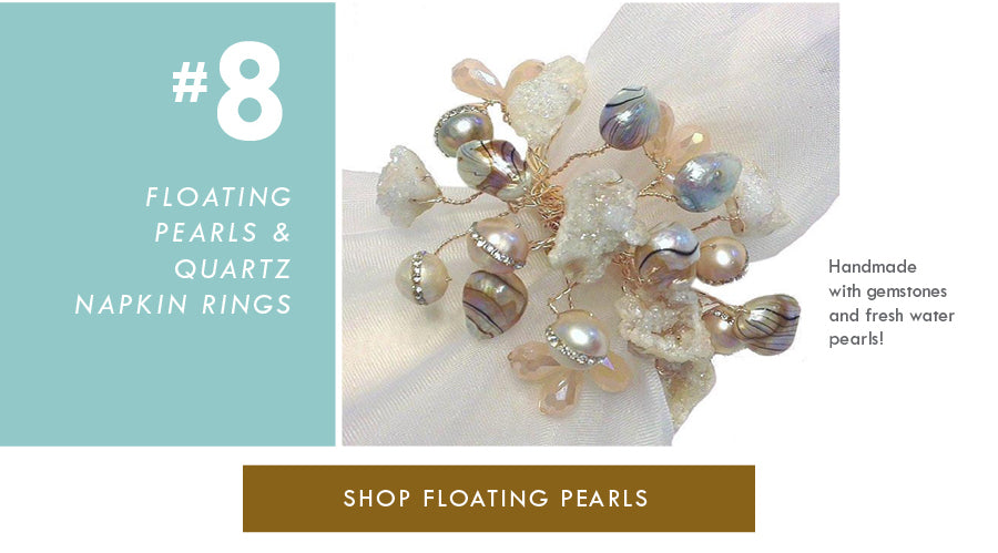 Top 18 Luxury Home Decor Trends Pearls and Quartz Joseph Williams Napkin Ring