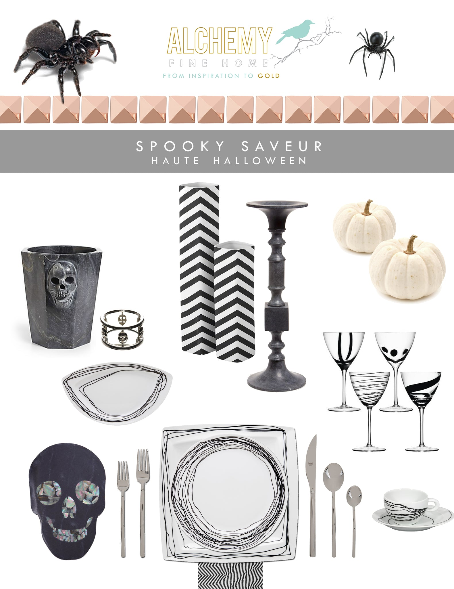Gourmet Halloween Dinner Tablescape