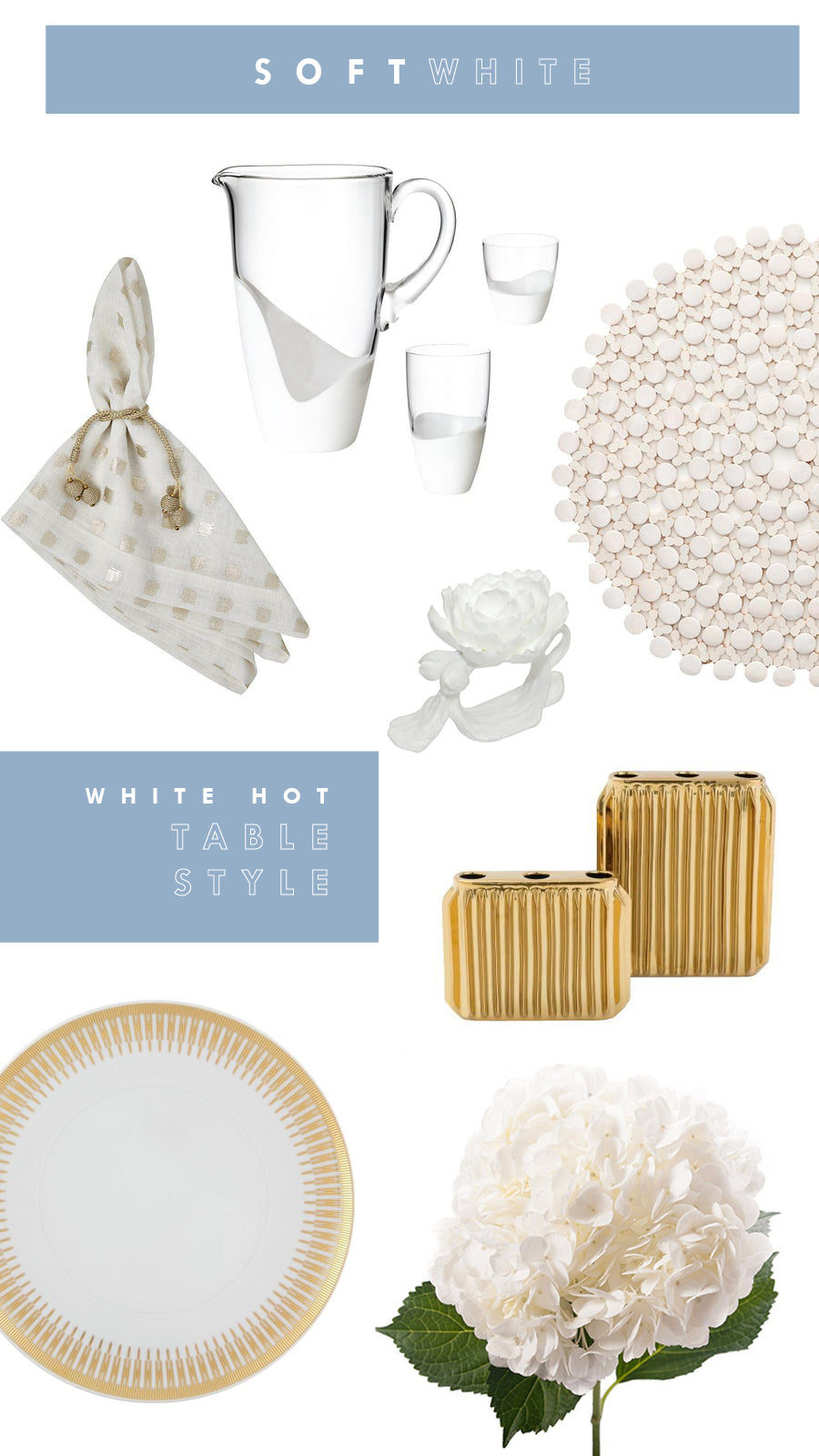 White and Gold Tabletop Decorating Tips