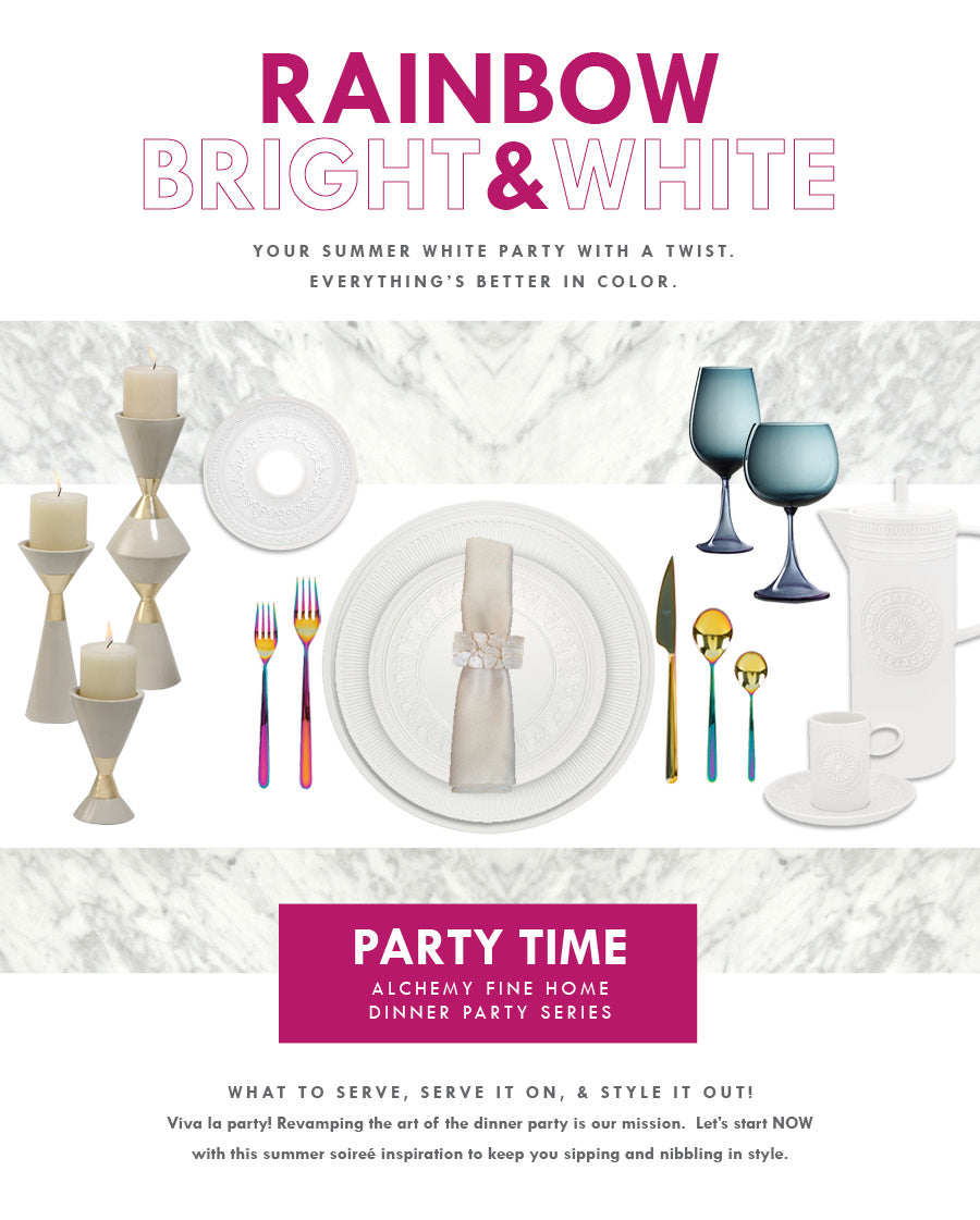 Summer Dinner Party Ideas - White Party Revamped!