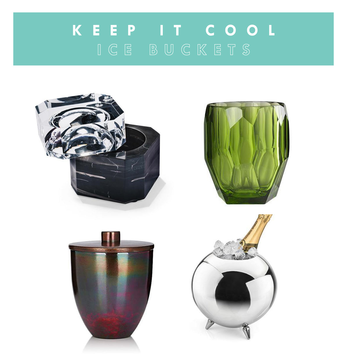 Top modern ice buckets for summer entertaining