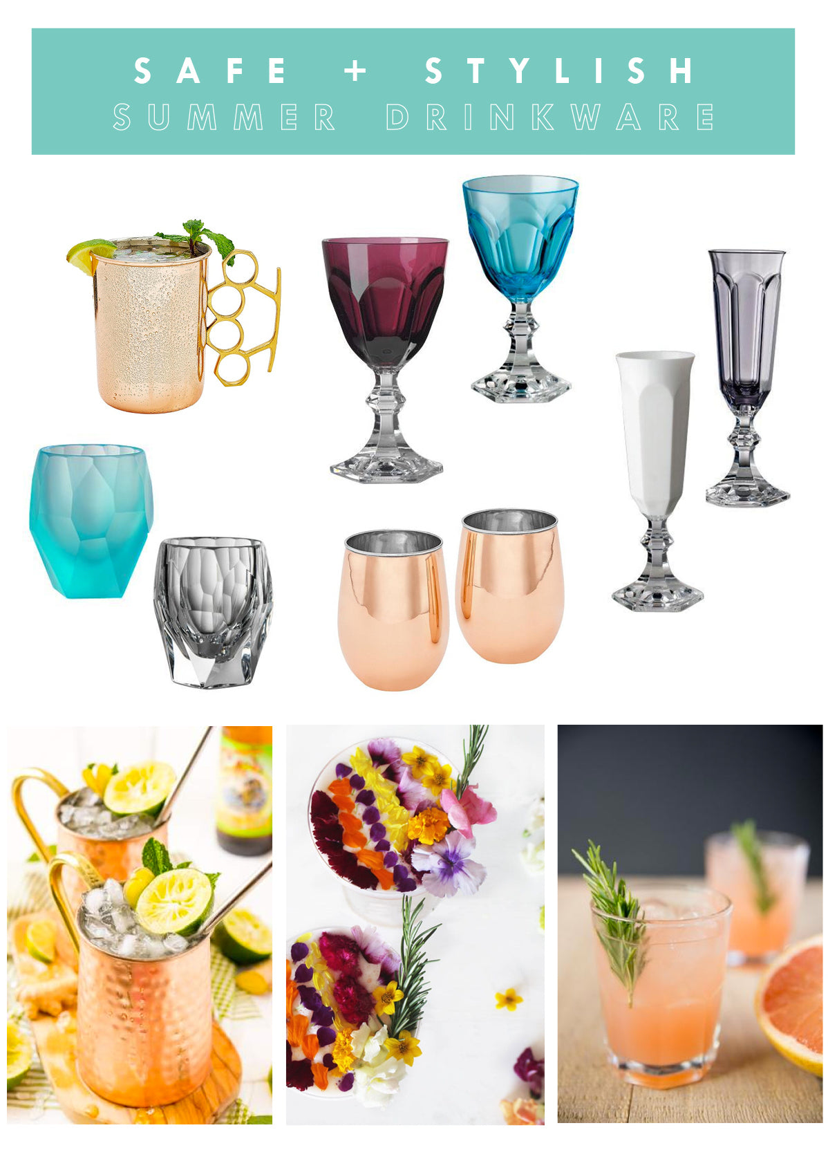 Shatterproof Drinkware for Summer Entertaining