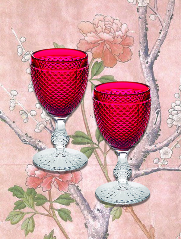 Bicos Bi-color glasses red wine glasses