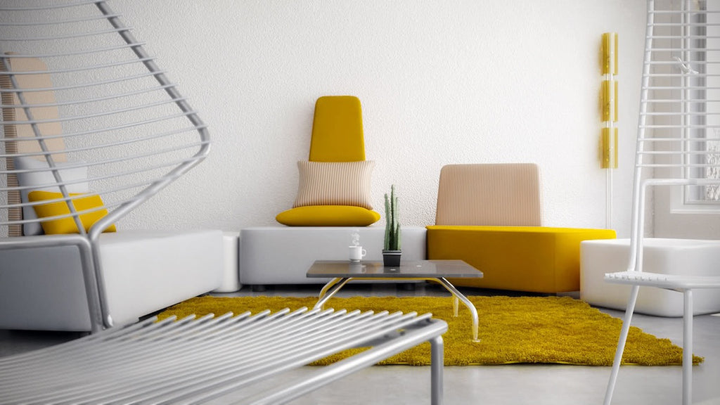 Modern Living Rooms with Yellow