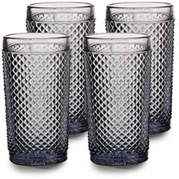 Vista Alegre Bicos Cinza - Set with 4 Highballs Grey