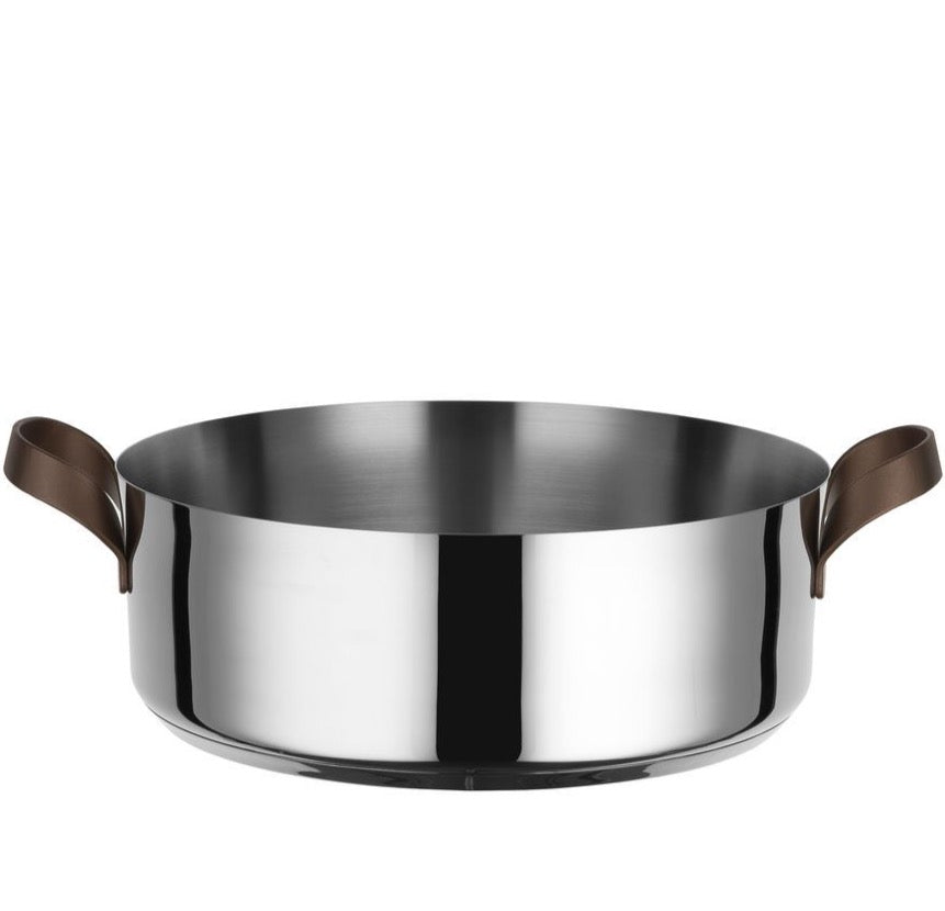 Alessi Alessi Edo Low Casserole Pan - Available in 2 Sizes 28 cm PU102/28