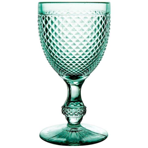 Vista Alegre Bicos Verde - Set with 4 Water Goblets Mint Green
