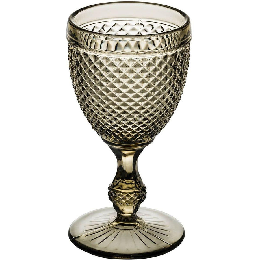 Vista Alegre Bicos Brown Water Goblet - Set of 4