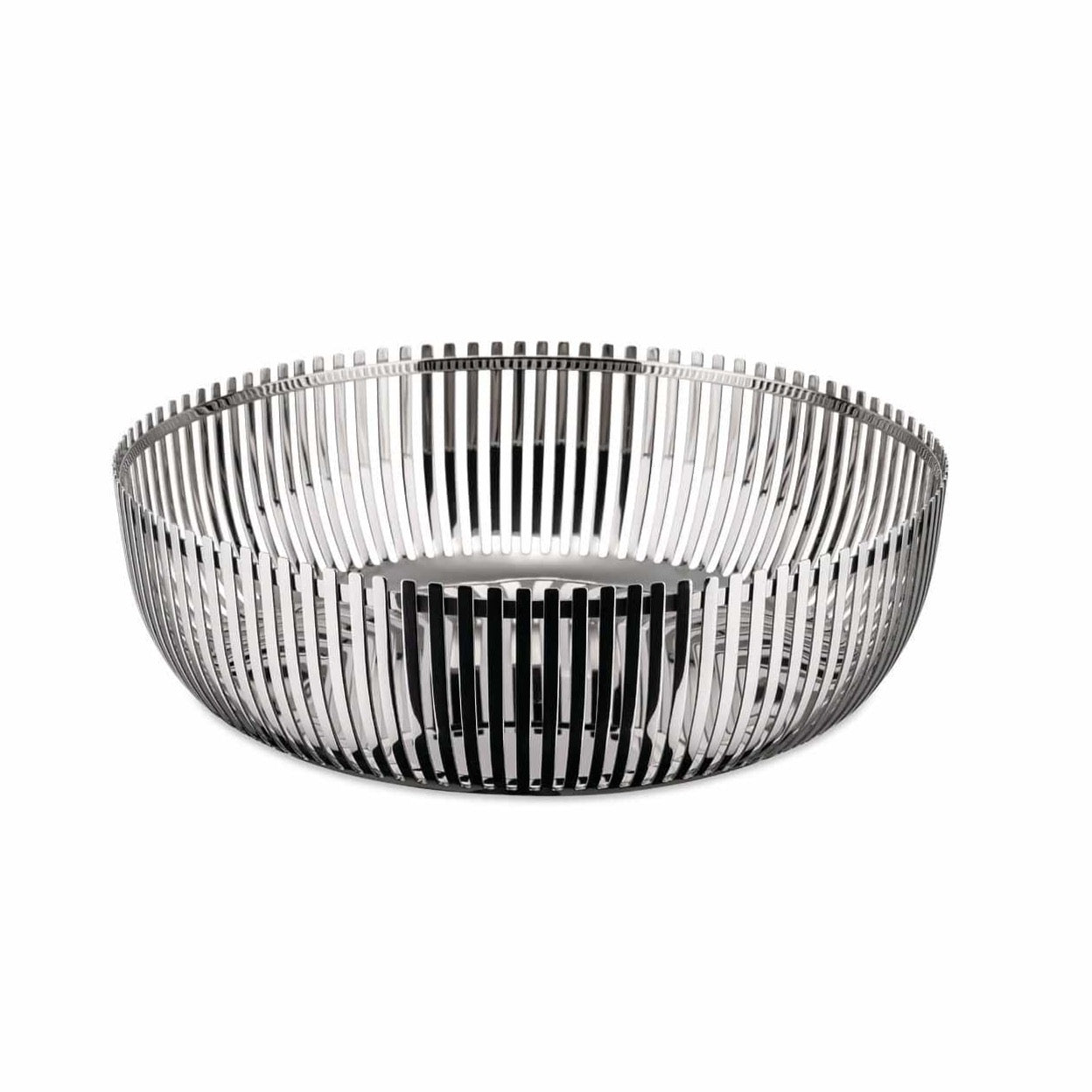 Alessi Alessi Round Basket - Small - Silver PCH02/20