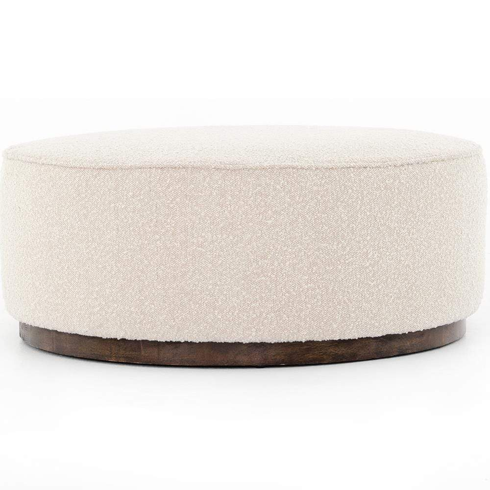 Four Hands Four Hands Sinclair Large Round Ottoman - Ivory 106119-007