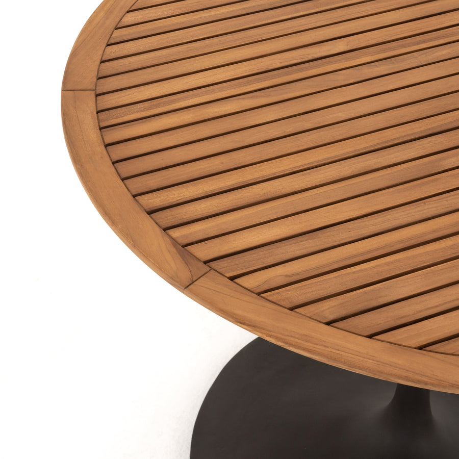 Four Hands Reina Outdoor Bistro Table - Natural Teak | Alchemy Fine Home