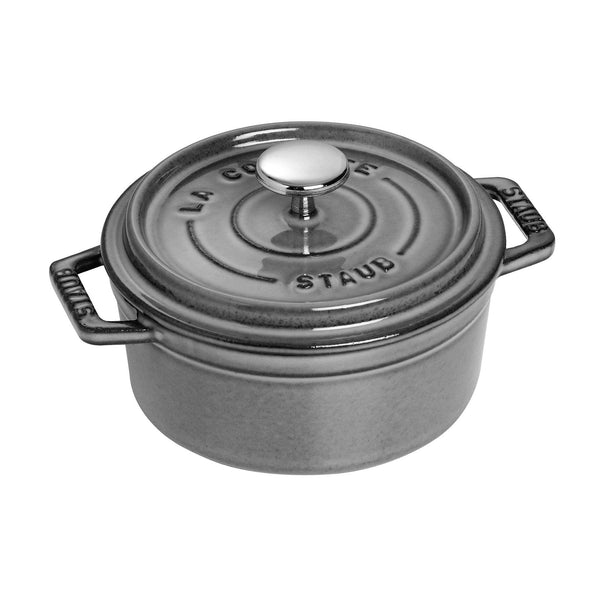 Staub Cast Iron 0.5-qt Round Cocotte - Available in 2 colors