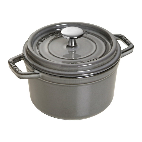 Staub Cast Iron 0.75-qt Round Cocotte - Available in 2 colors