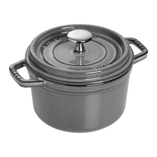 Staub Cast Iron 1.25-qt Round Cocotte - Available in 2 colors