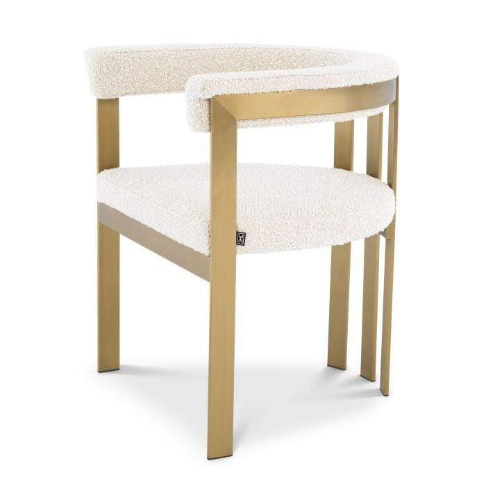 Eichholtz Clubhouse Dining Chair - White & Gold