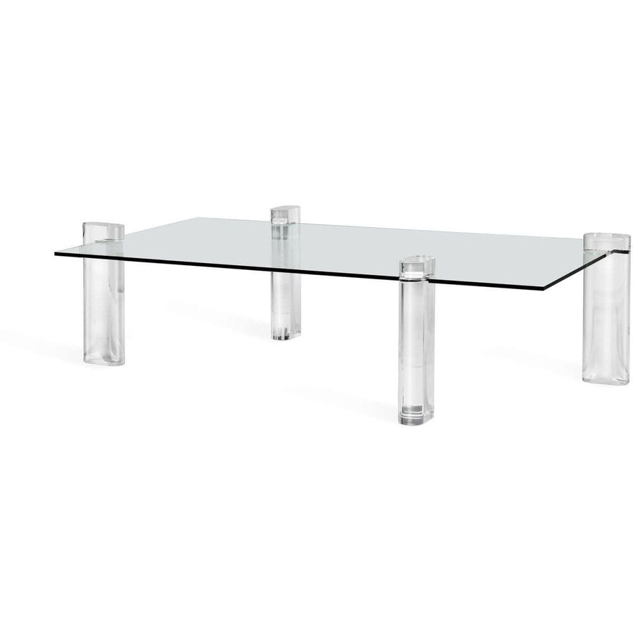 "Interlude Home Interlude Home Channing 64"" Grand Cocktail Table - Clear Glass and Acrylic 115133"