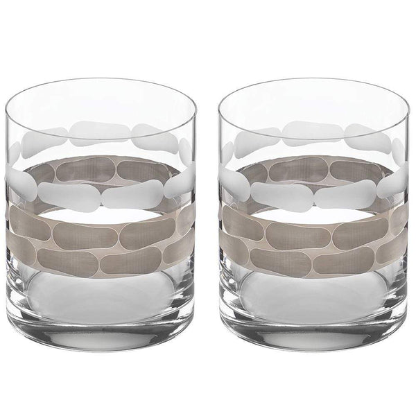 Michael Wainwright Truro Platinum Double Old Fashioned - Set Of 2