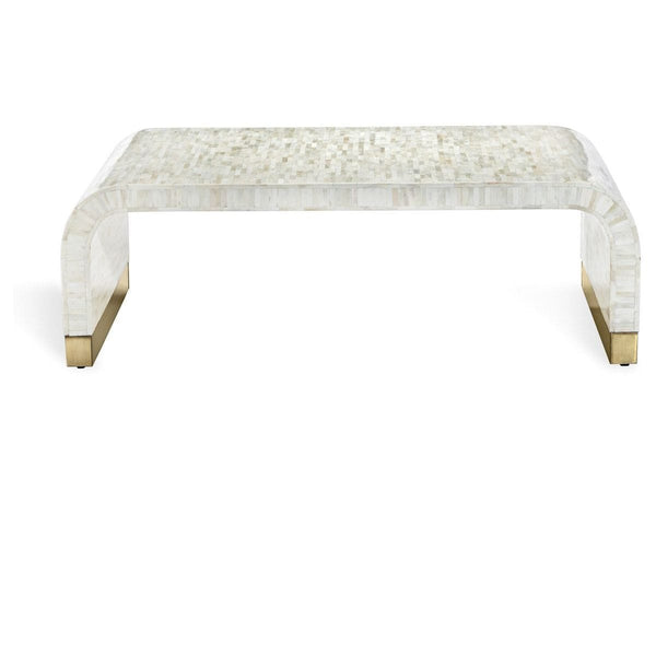 Interlude Home Interlude Home Beacon Cocktail Table - Natural Cream - Polished Brass 118126