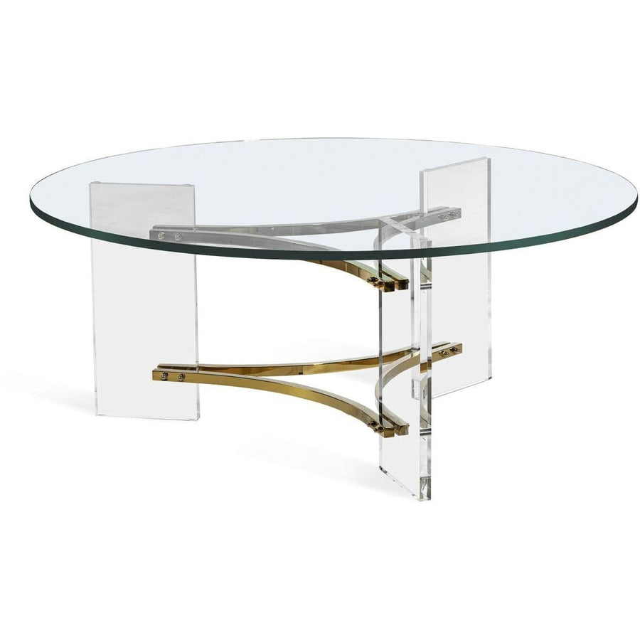 Interlude Home Interlude Home Tamara Cocktail Table - Clear - Polished Brass 118133