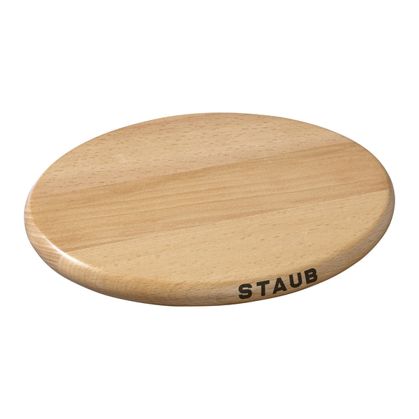 Staub 11.4-inch Oval Magnetic Wood Trivet