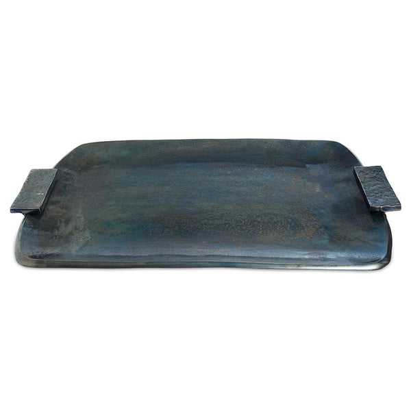 "Julia Knight Eclipse 21"" Rectangular Tray in Steel Blue"