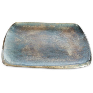 "Julia Knight Eclipse 9"" Stackable Square Tray in Steel Blue"