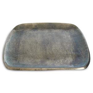 "Julia Knight Eclipse 12"" Stackable Square Tray in Steel Blue"