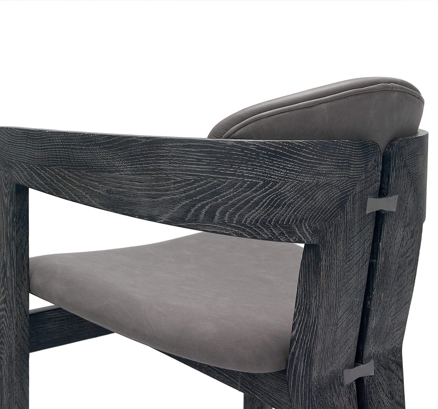 Interlude Home Interlude Home Maryl Dining Chair in Charcoal 148131
