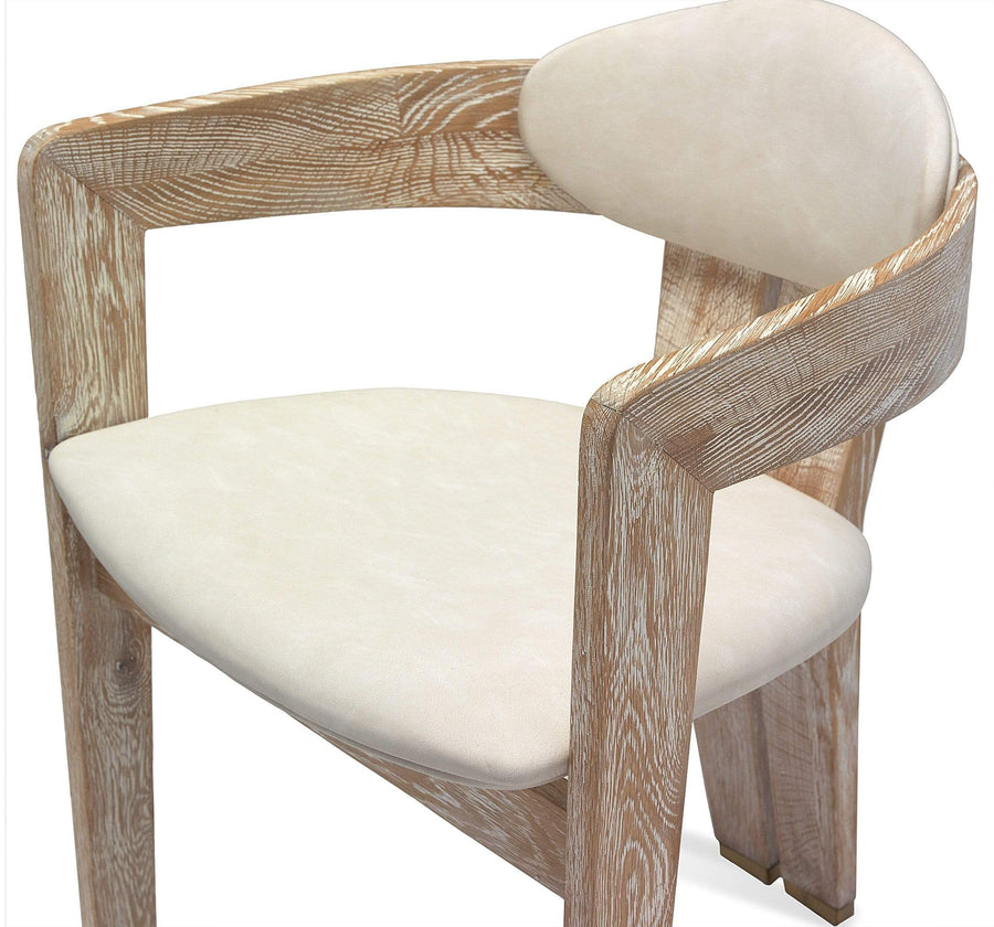 Interlude Home Maryl Dining Chair in Whitewash
