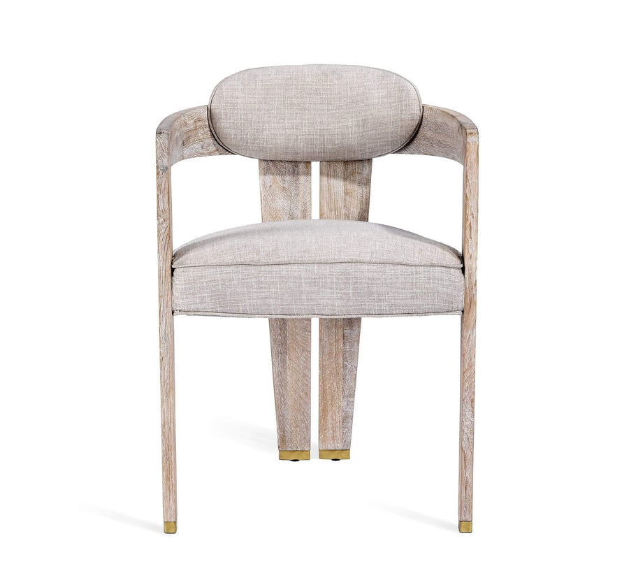 Interlude Home Interlude Home Maryl II Dining Chair in Cream Linen 148164