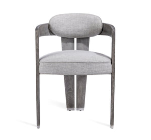 Maryl II Dining Chair in Grey Linen