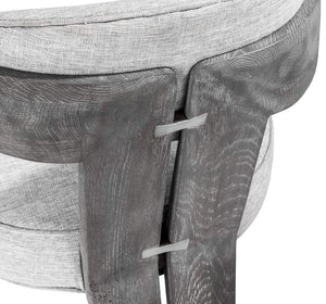 Interlude Home Maryl II Dining Chair in Grey Linen