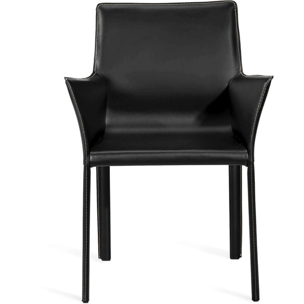 Interlude Home Jada Arm Chair - Black Night
