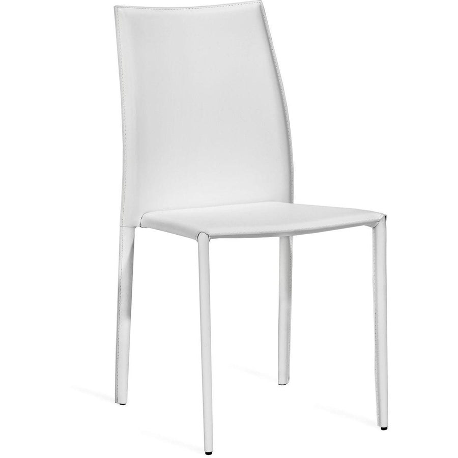 Interlude Home Van Set of 4 Stacking Chairs - Winter White
