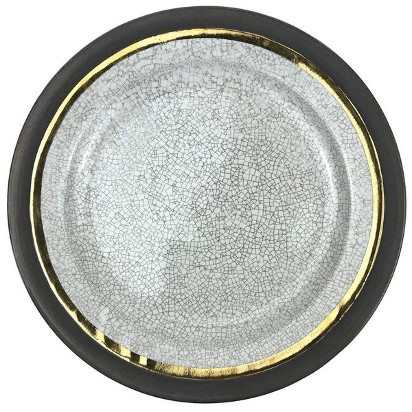 Michael Wainwright Michael Wainwright Raku Gold Trim Dinner Plate 14RA58