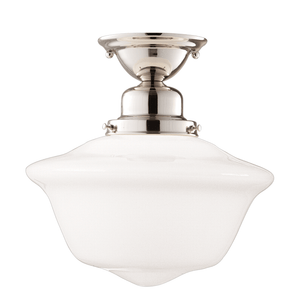Hudson Valley Lighting Hudson Valley Lighting Edison Collection Ceiling Lamp - Polished Nickel & Opal Glossy 1615F-PN