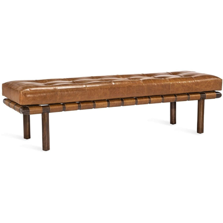 Interlude Home Honor Bench - Distressed Tobacco - Walnut