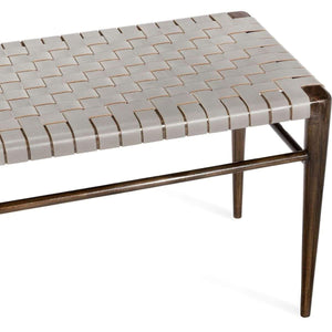 Interlude Home Ryder Grand Bench - Fossil - Walnut