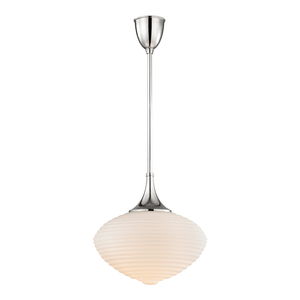 Hudson Valley Lighting Hudson Valley Lighting Knox Pendant - Polished Nickel & Opal 1916-PN