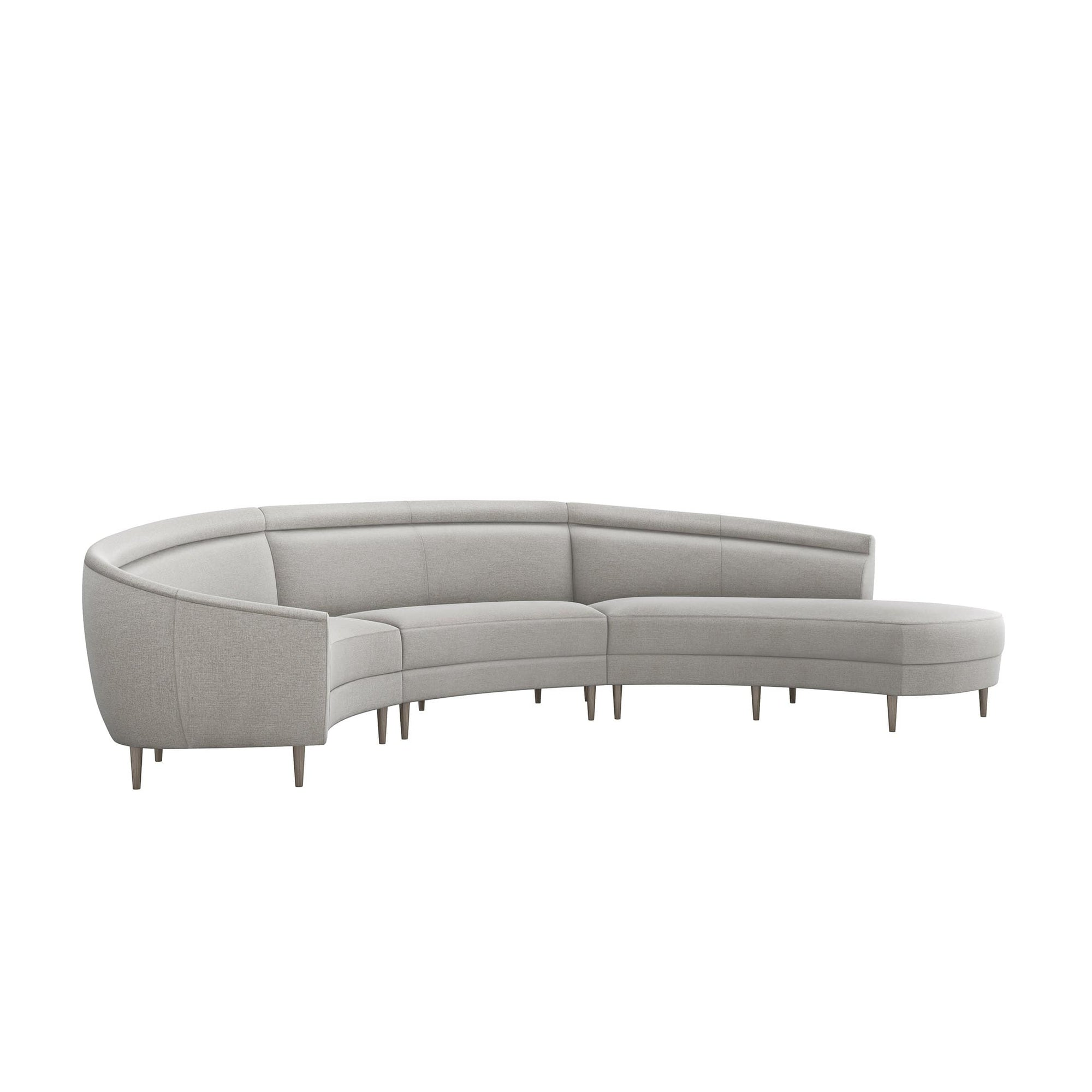 Interlude Home Interlude Home Capri Right Chaise 3 Piece Sectional - Dark Gray 199012-6