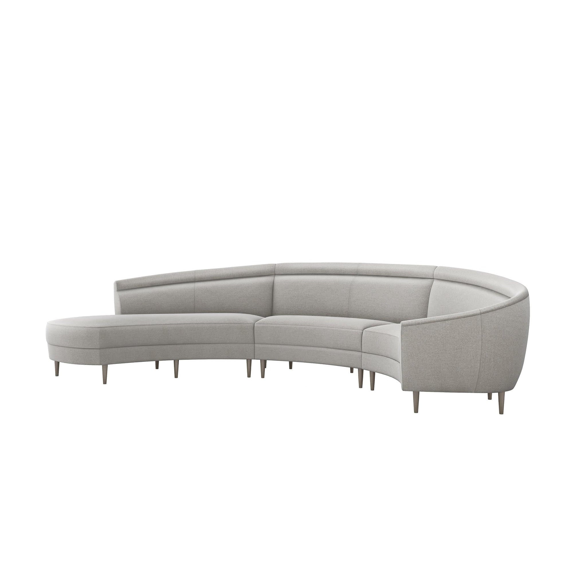 Interlude Home Interlude Home Capri Left Chaise 3 Piece Sectional - Light Gray 199013-6