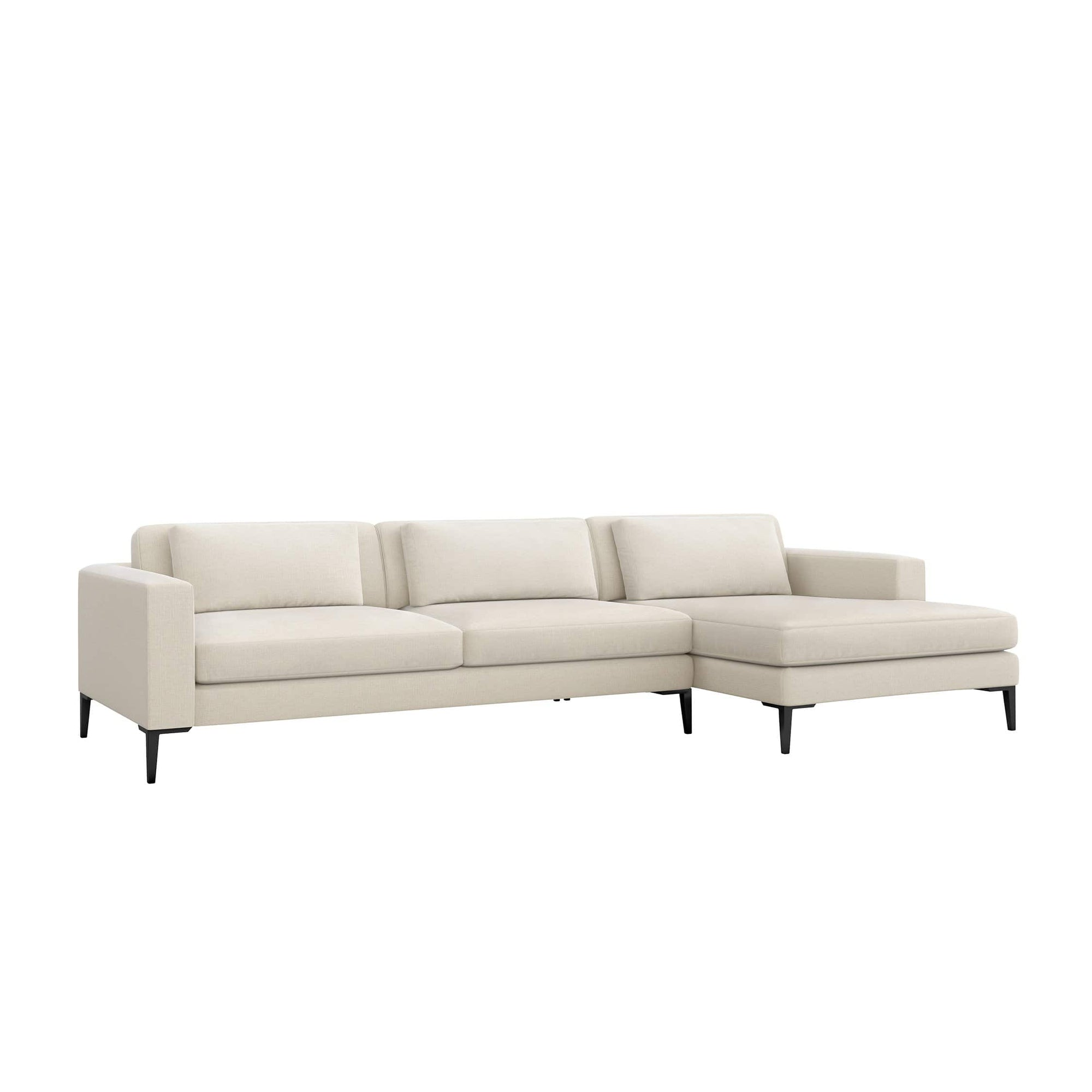 Interlude Home Interlude Home Izzy Right Chaise 2 Piece Sectional - Ivory 199014-1