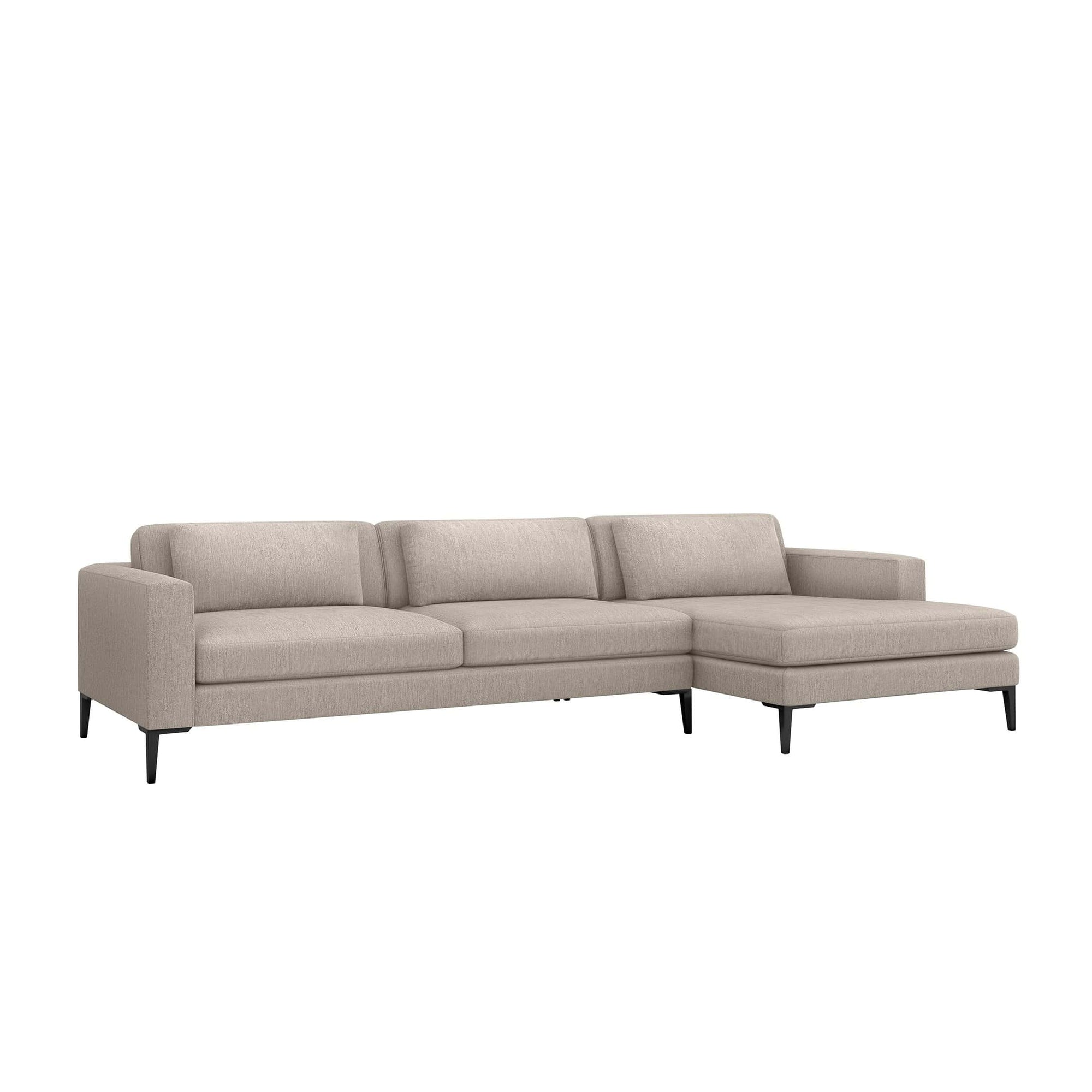 Interlude Home Interlude Home Izzy Right Chaise 2 Piece Sectional - Light Brown 199014-2