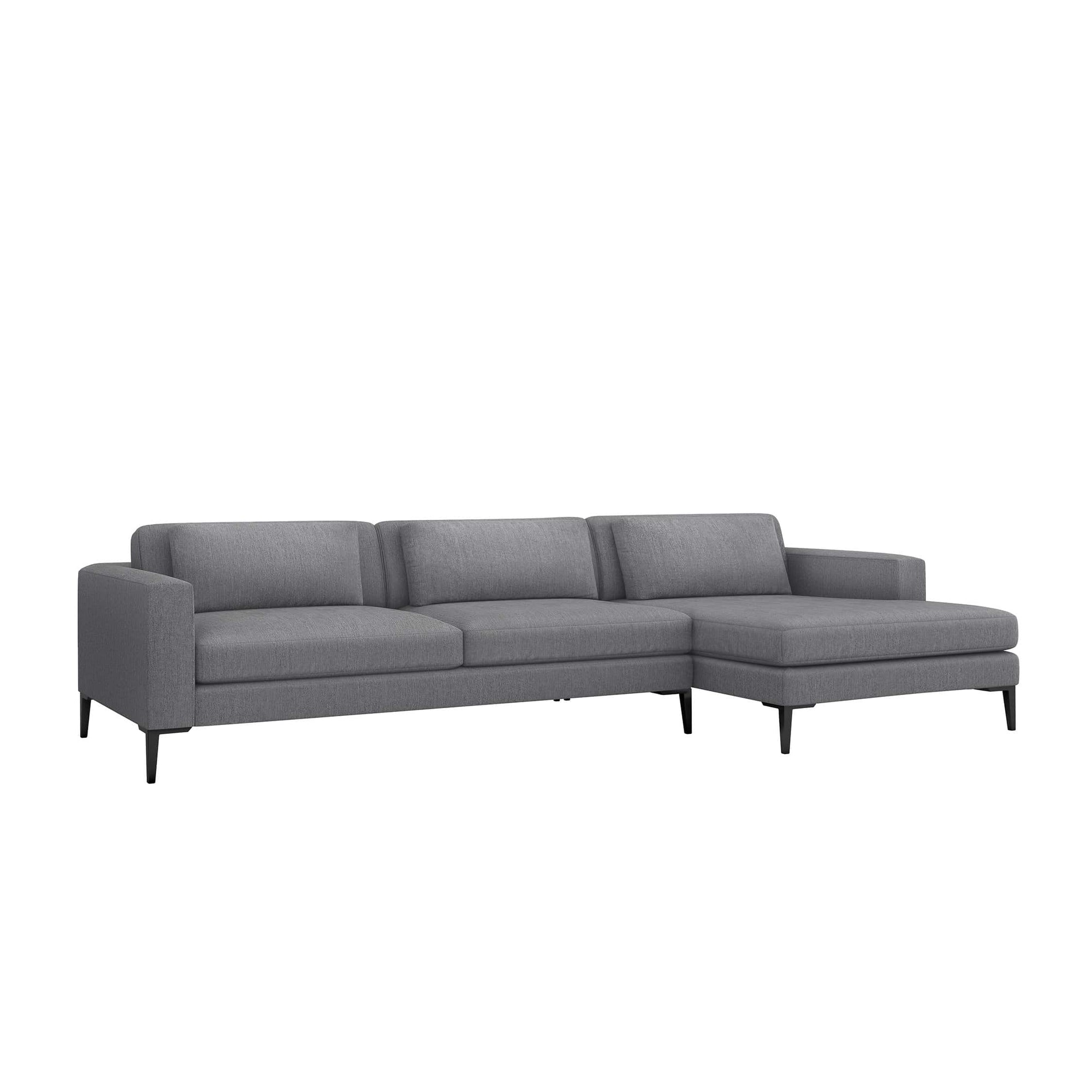 Interlude Home Interlude Home Izzy Right Chaise 2 Piece Sectional - Dark Gray 199014-3
