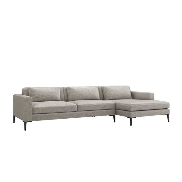 Interlude Home Interlude Home Izzy Right Chaise 2 Piece Sectional - Feather Gray 199014-4