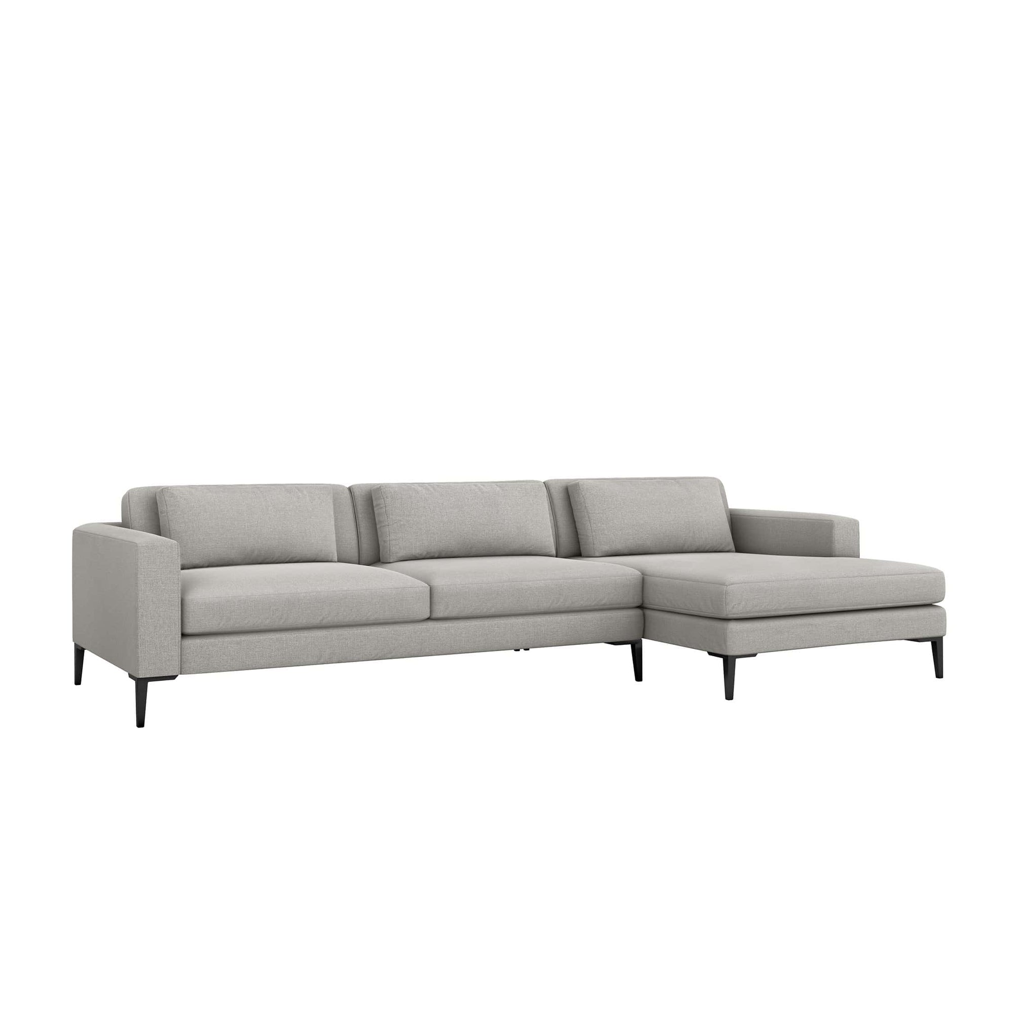 Interlude Home Interlude Home Izzy Right Chaise 2 Piece Sectional - Light Gray 199014-6