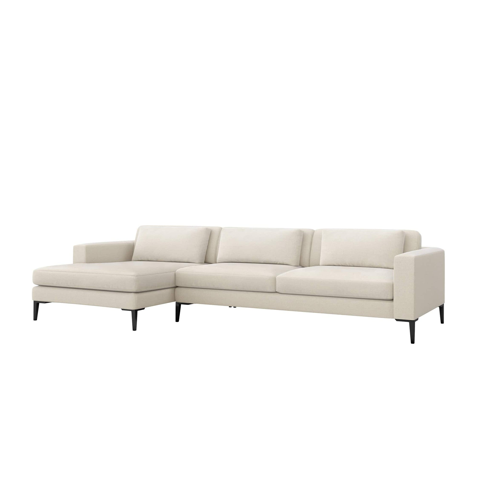 Interlude Home Interlude Home Izzy Left Chaise 2 Piece Sectional - Ivory 199015-1