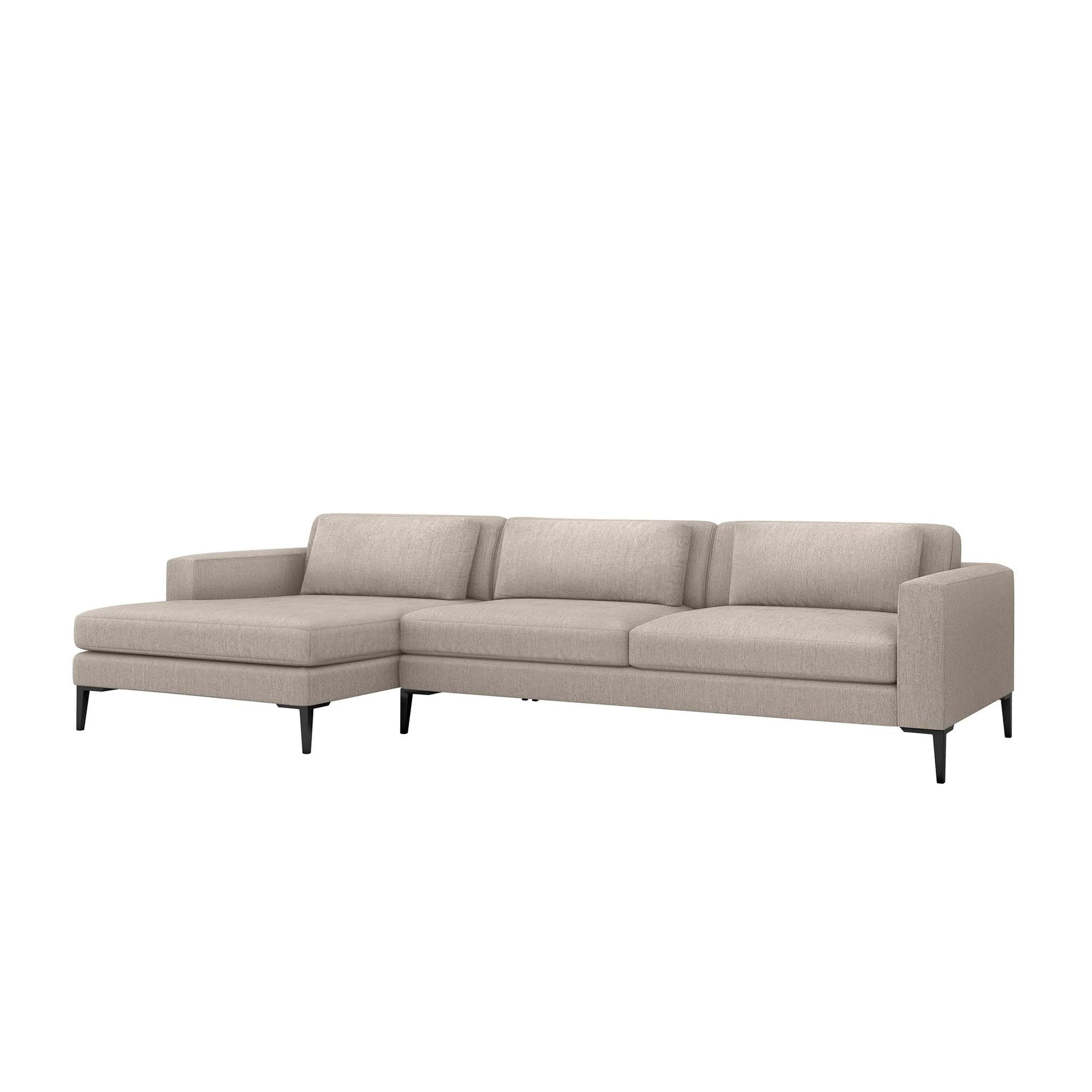 Interlude Home Interlude Home Izzy Left Chaise 2 Piece Sectional - Light Brown 199015-2