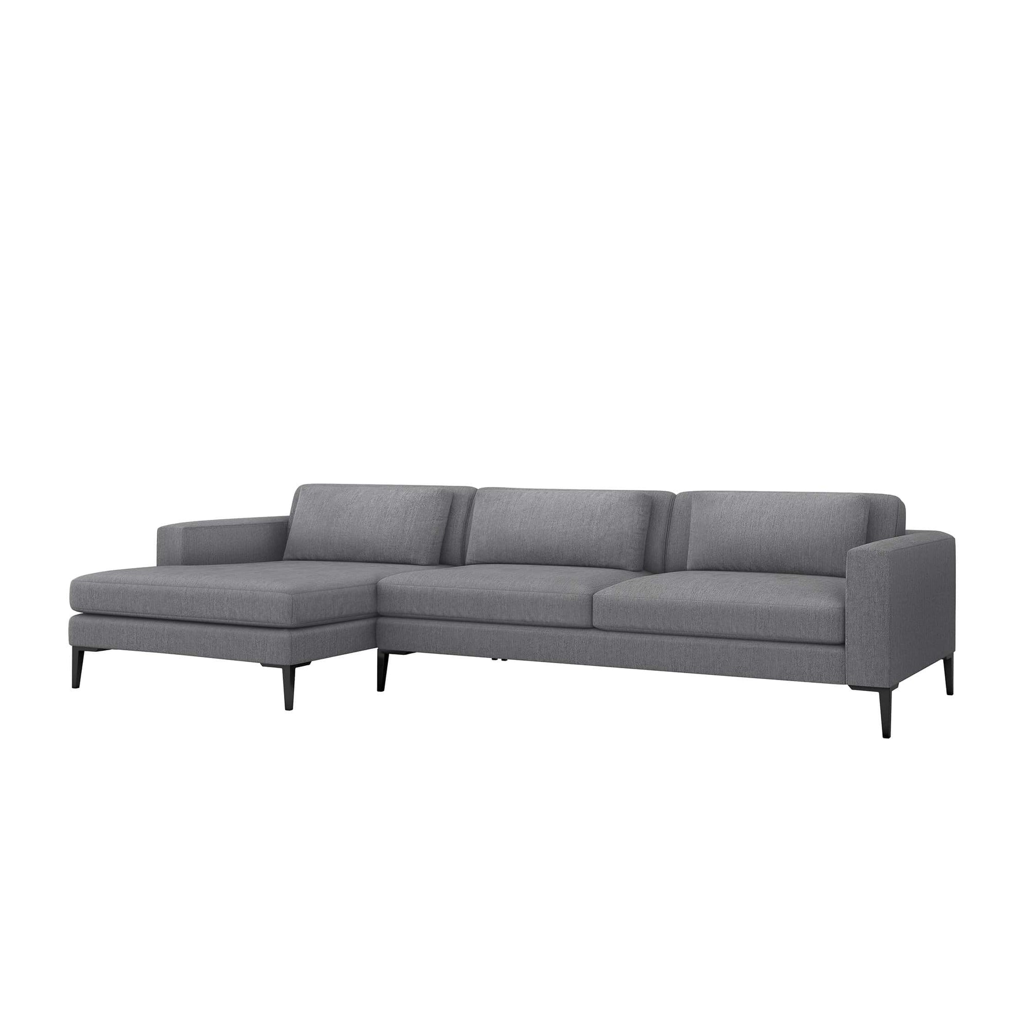Interlude Home Interlude Home Izzy Left Chaise 2 Piece Sectional - Dark Gray 199015-3