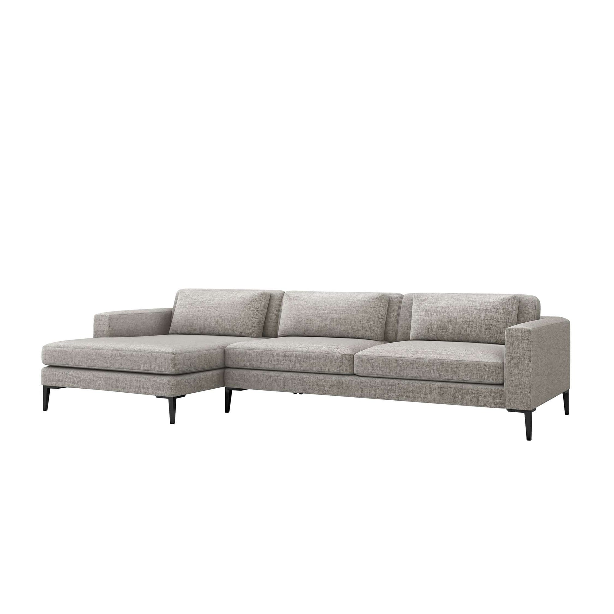 Interlude Home Interlude Home Izzy Left Chaise 2 Piece Sectional - Feather Gray 199015-4